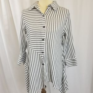 Soft Surroundings Striped Standout tunic top